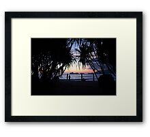 Palau Merah (Red Island) Sunset Framed Print