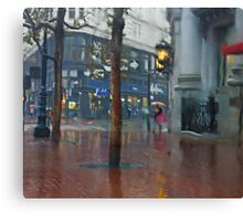 Market Street Corner Lights Canvas Print