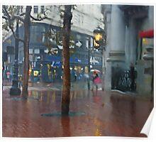 Market Street Corner Lights Poster