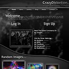 If I Ever Make My Own Website.... First Design. by CrazyDistortion