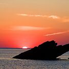 BROAD HAVEN ( NORTH ) SUNSET PEMBROKESHIRE WALES UK by kfbphoto