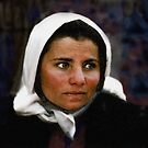THE WONDERFUL NOBLE FACE OF A KURDISH REFUGEE LADY by kfbphoto