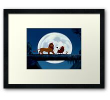 Simba, Pumba, and Timon  Framed Print