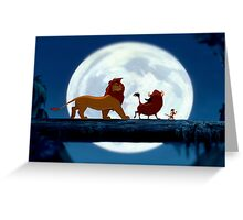 Simba, Pumba, and Timon  Greeting Card