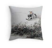 Fishing on Snowy River Throw Pillow