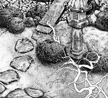 Stone Lantern, Koyasan by Sundayink
