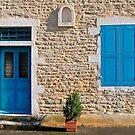 Chassagne Montrachet doorway by Victor Pugatschew