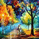 Night Alley — Buy Now Link - www.etsy.com/listing/126202185 by Leonid  Afremov