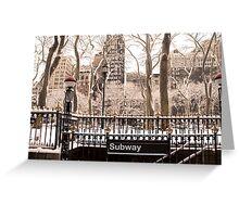 Subway Snow Greeting Card
