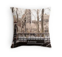 Subway Snow Throw Pillow