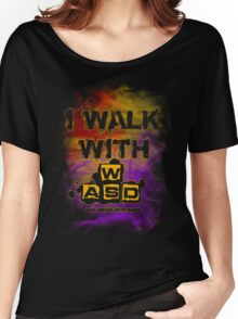 I Walk with WASD (And sprint with shift) v2 Women's Relaxed Fit T-Shirt