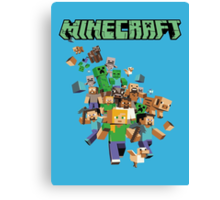 Minecraft love Canvas Print