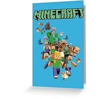 Minecraft love Greeting Card