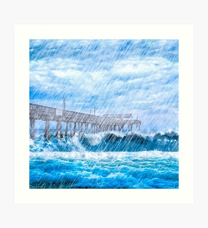Storm Over The Sea - Tybee Island Art Print