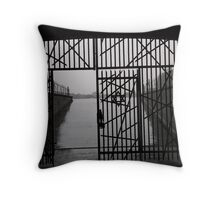 Jewish Memorial in Dachau Throw Pillow