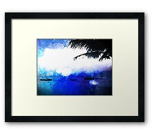 Bonaire Blue Framed Print