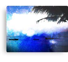 Bonaire Blue Metal Print