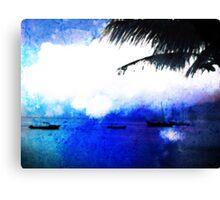 Bonaire Blue Canvas Print