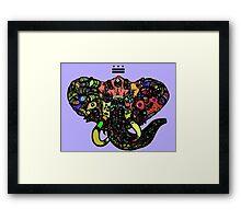 DC Elephant BLK Framed Print