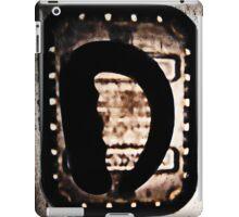 'D' iPad Case/Skin