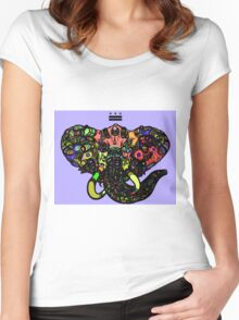DC Elephant BLK Women's Fitted Scoop T-Shirt