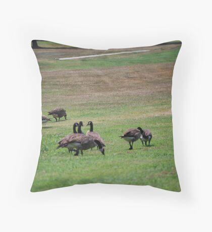 Golfing Geese Throw Pillow