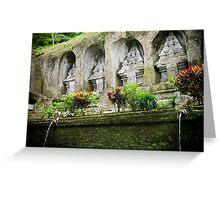 Gunung Kawi Temple, Bali, Indonesia Greeting Card