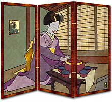 Tea Ceremony Shoji Screen by Mike Connor