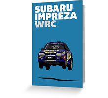 Fortitude's  'Colin McRae 555' Subaru Impreza Tribute Poster Greeting Card