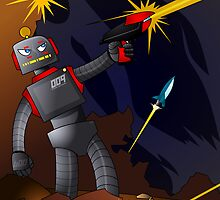 Gun Slinger Robo - Fire Fight by John Earickson