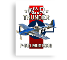 War Thunder P-51 Mustang  Canvas Print