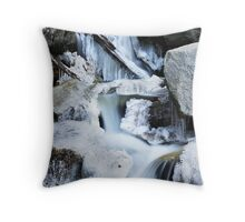 Freezing Falls Throw Pillow