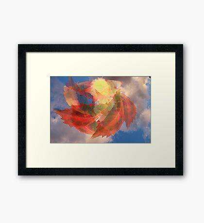 'Twirling together' Framed Print