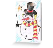 Snowmans  Stardom Greeting Card