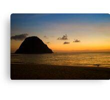 Beautiful Sunset on Palau Merah (Red Island) in Java Canvas Print