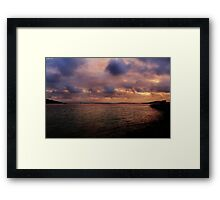 Sunset at Albany Framed Print