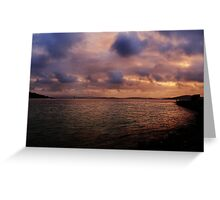 Sunset at Albany Greeting Card