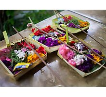 Canang Sari - Balinese Offerings Photographic Print