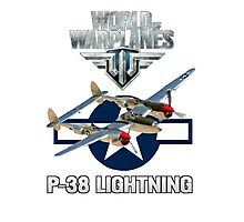 World of Warplanes P-38 Lightning Photographic Print