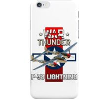 War Thunder P-38 Lightning iPhone Case/Skin