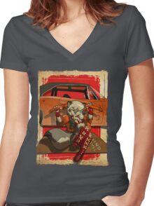 Wolf Girl 2 Women's Fitted V-Neck T-Shirt