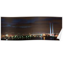 East End of the Bolte Bridge at Night Poster