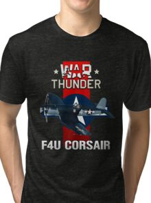 War Thunder F4U Corsair Tri-blend T-Shirt