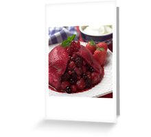 Summer Pudding Greeting Card