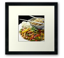 Chinese Stir fry Framed Print