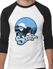 Blue Sunset Men's Baseball ¾ T-Shirt