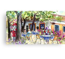 Romance In Szentendre Canvas Print