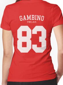 Gambino Jersey Women's Fitted V-Neck T-Shirt