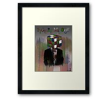 Figure Me Out text Framed Print