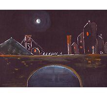 Blue Moon Over Bridge Photographic Print